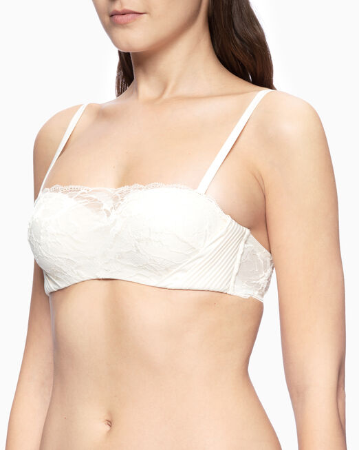 CALVIN KLEIN CK BLACK SPRING ROSE PUSH-UP BANDEAU
