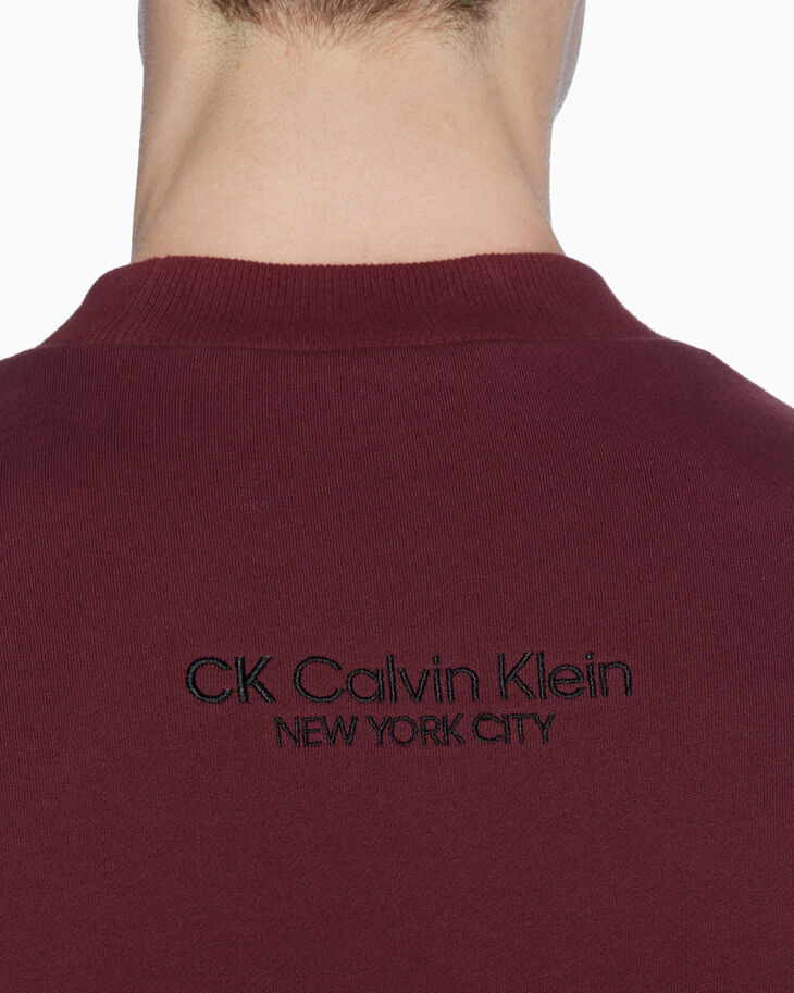 CALVIN KLEIN FETT 로고 패치 스웨트셔츠
