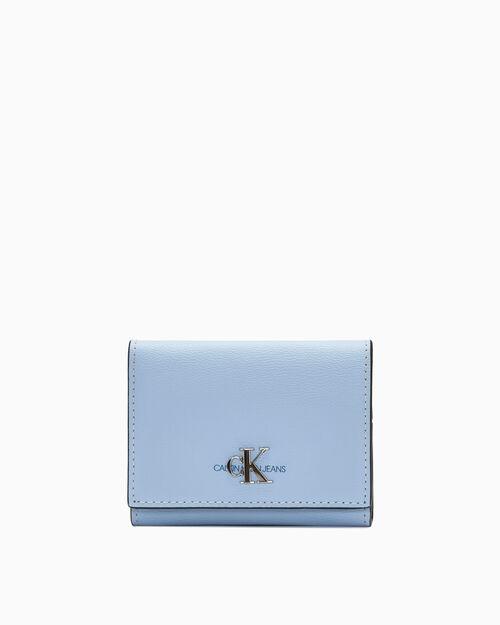 CALVIN KLEIN 여성 CKJ 모노그램 플랩 카드 케이스 폰 & 카드 지갑