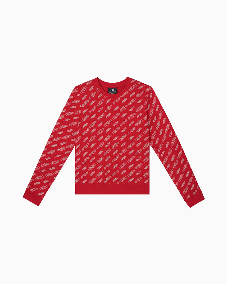 CALVIN KLEIN CK50 LOGO ALL OVER PRINT SWEATSHIRT