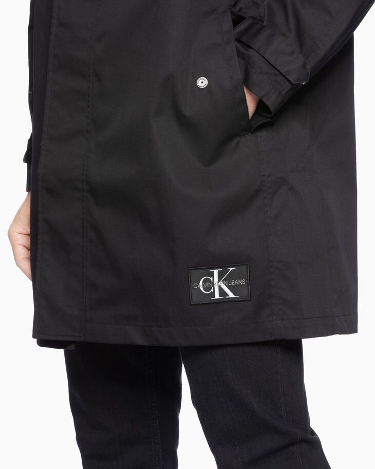 CALVIN KLEIN MIRRORED MONOGRAM LOGO COAT