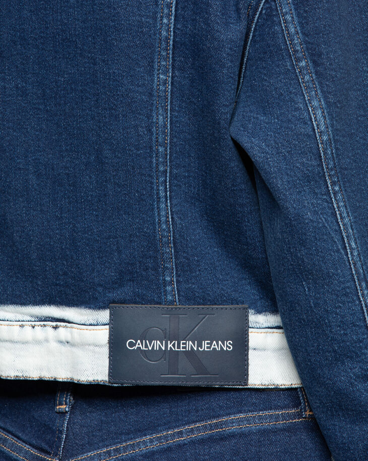 CALVIN KLEIN CROPPED POCKET STITCH TRUCKER JACKET