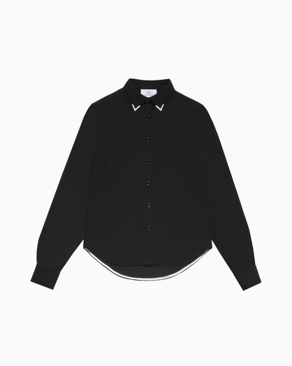 CALVIN KLEIN METAL COLLAR TIP SHIRT