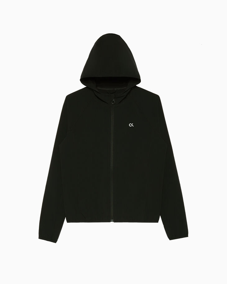 CALVIN KLEIN BACK LOGO WINDBREAKER JACKET WITH HOOD