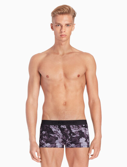 CALVIN KLEIN CK BLACK MICRO PRINT LOW RISE TRUNKS