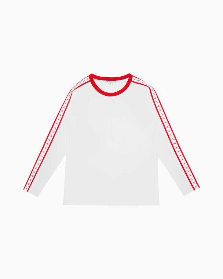 CALVIN KLEIN 일본 한정판 모노그램 테이프 티셔츠