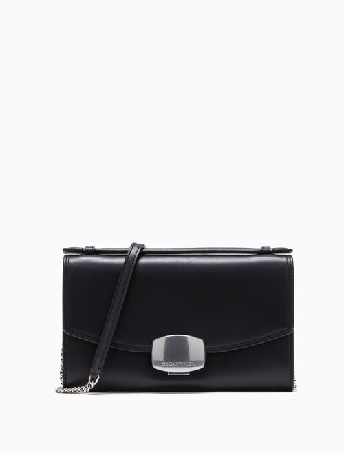 CALVIN KLEIN BUCKLE CLUTCH WITH CHAIN