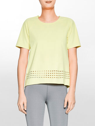 CALVIN KLEIN PREFORATED PULLOVER WITH BOND