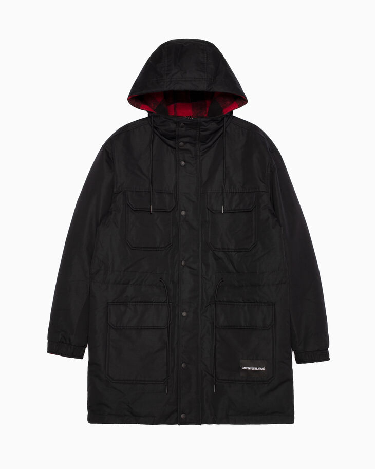 CALVIN KLEIN REVERSIBLE LONG PARKA