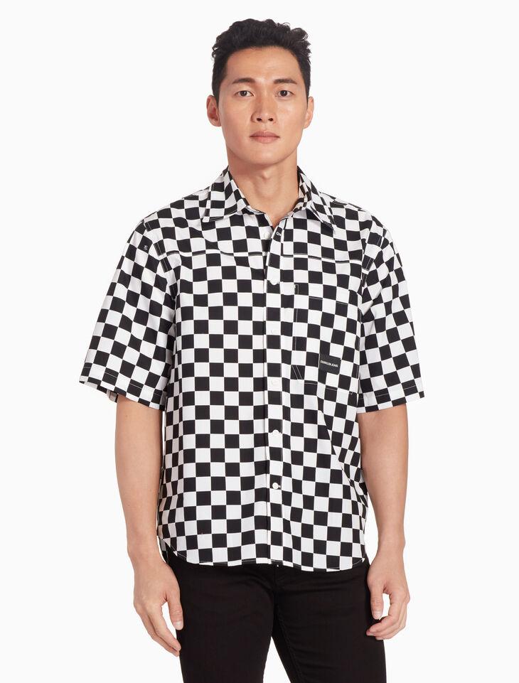 CALVIN KLEIN INSTITUTIONAL CHECKBOARD 셔츠