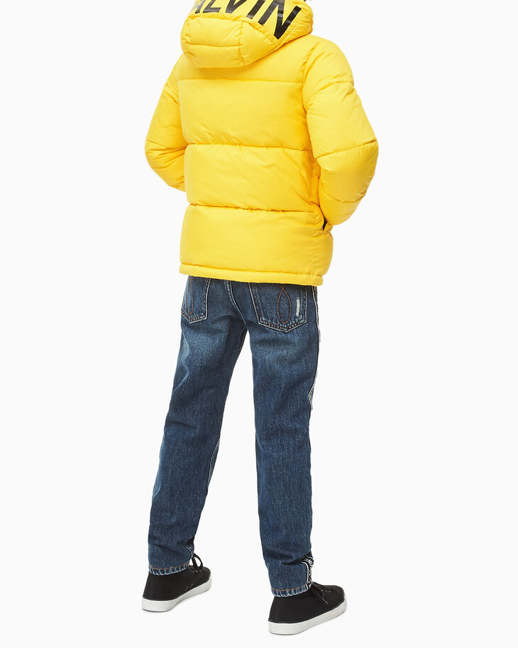 CALVIN KLEIN BOYS ESSENTIAL LOGO 羽絨外套