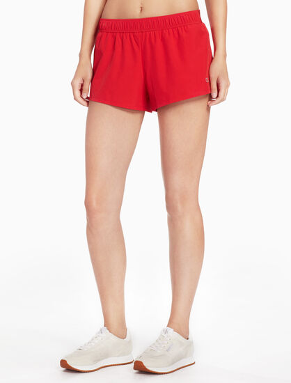 CALVIN KLEIN WOVEN SHORTS WITH LOGO WAISTBAND