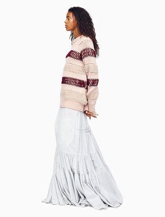 CALVIN KLEIN GRID CHECK ロング パイオニア ラッフルスカート
