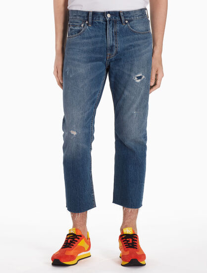 CALVIN KLEIN CKJ 035 MEN STRAIGHT CROPPED JEANS