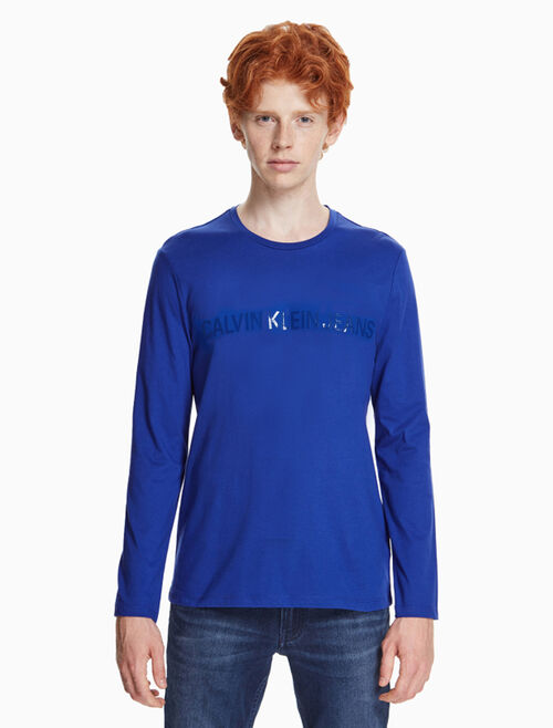 CALVIN KLEIN VINYL INSTITUTIONAL PRINT SLIM TEE
