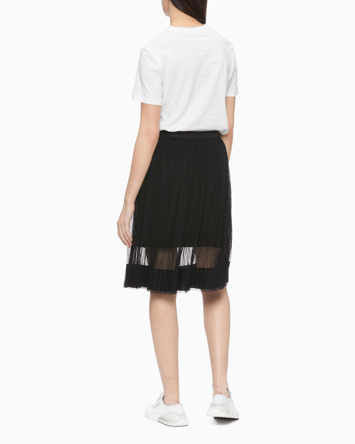 CALVIN KLEIN PLEATED MESH 襯裙