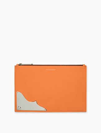 CALVIN KLEIN small pebble leather pouch