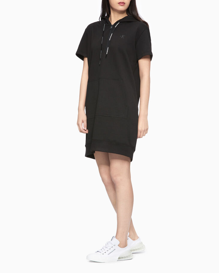 CALVIN KLEIN SHORT SLEEVE SWEATSHIRT DRESS