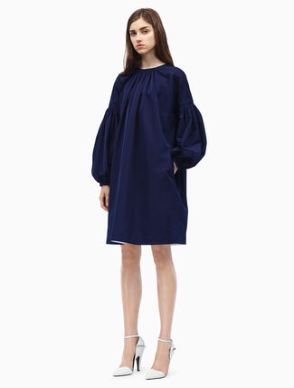 CALVIN KLEIN ruched sleeves mini dress
