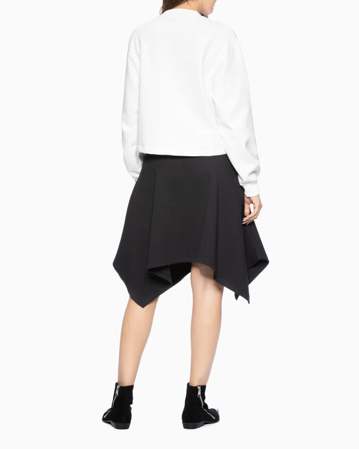 CALVIN KLEIN 여성 모크넥 모노그램 로고 스웨트셔츠