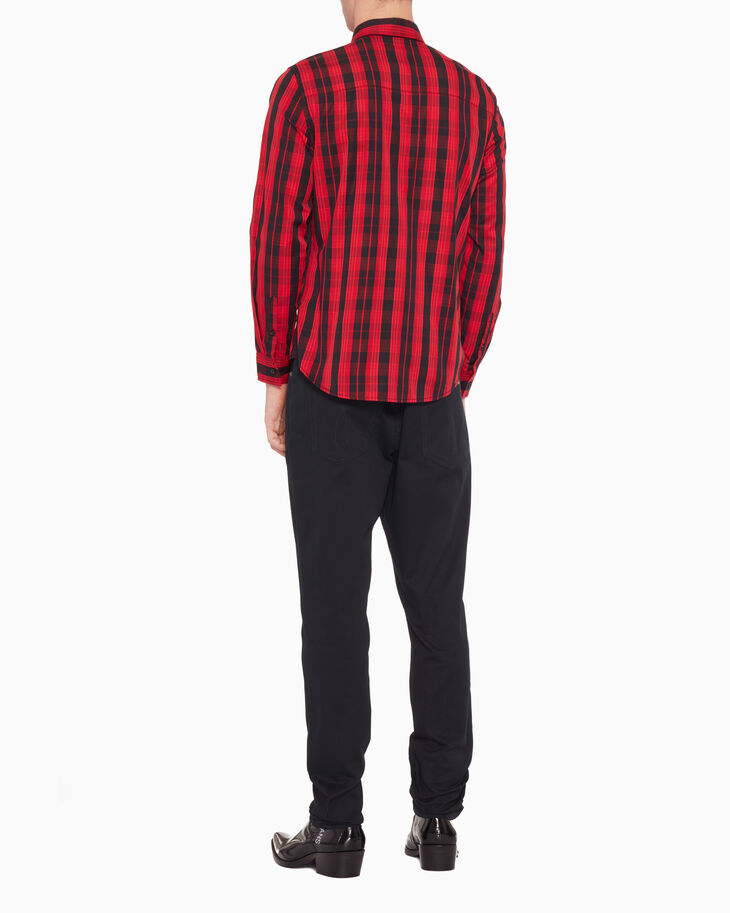 CALVIN KLEIN COTTON CASHMERE PLAID SHIRT