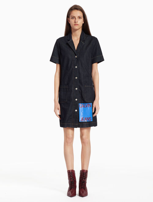 CALVIN KLEIN DENIM WAITRESS DRESS