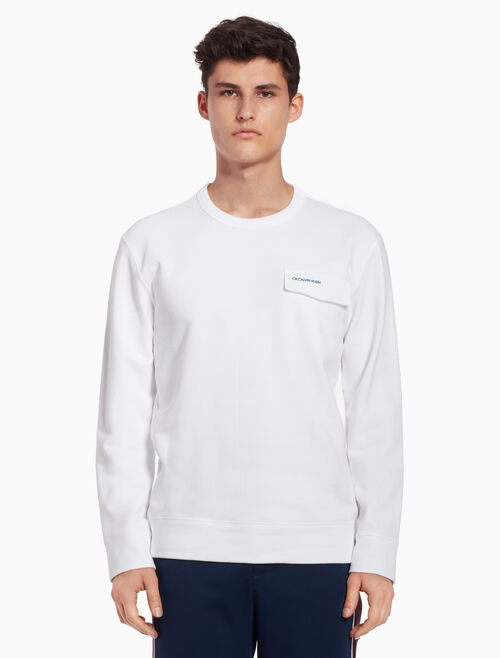 CALVIN KLEIN Logo flap sweatshirt