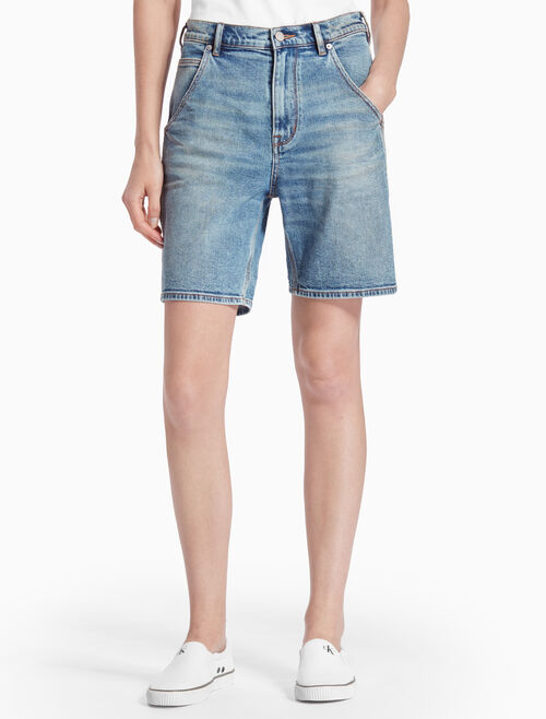 CALVIN KLEIN RINSE CARPENTER DENIM SHORTS