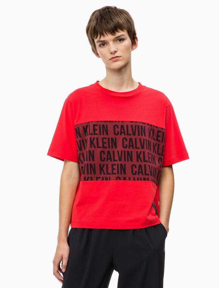 CALVIN KLEIN CROPPED BOXY TEE