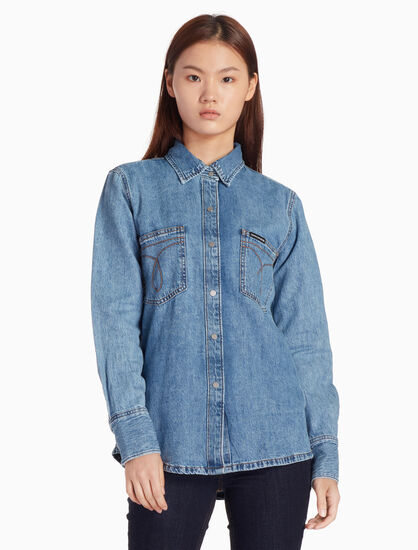 CALVIN KLEIN ICONIC DENIM SHIRT