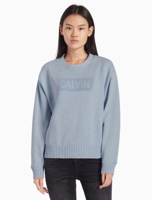 CALVIN KLEIN KNIT LOGO ボックススウェットシャツ