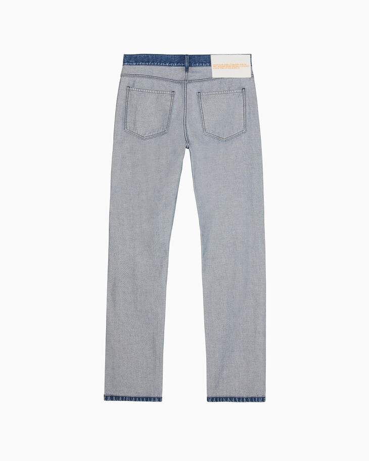 CALVIN KLEIN MEN STRAIGHT LEG INSIDE OUT INDIGO STONE JEANS