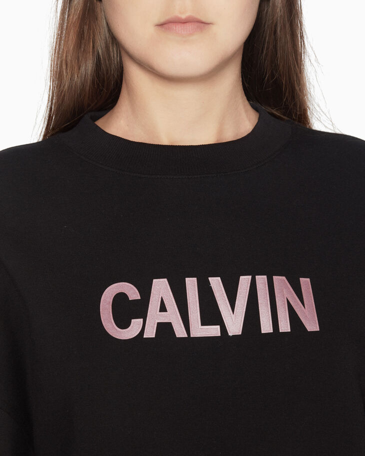 CALVIN KLEIN METALLIC LOGO SWEATSHIRT