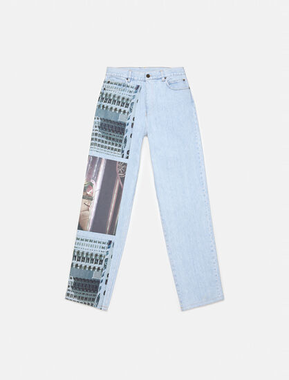 CALVIN KLEIN GRAPHIC BLUE BAGGY JEANS