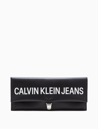 CALVIN KLEIN LONG LOGO CLUTCH