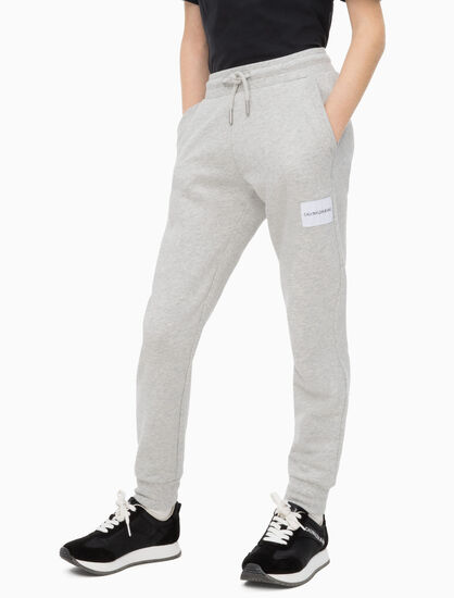 CALVIN KLEIN BOYS LOGO COTTON TERRY JOGGERS