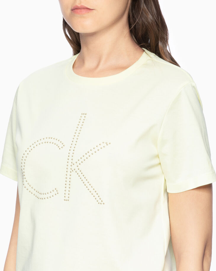 CALVIN KLEIN STUDDED ロゴ T シャツ