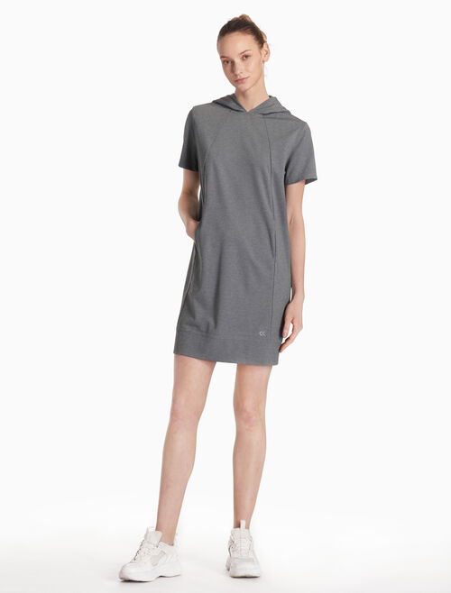 CALVIN KLEIN HOODED SHORT SLEEVE DRESS