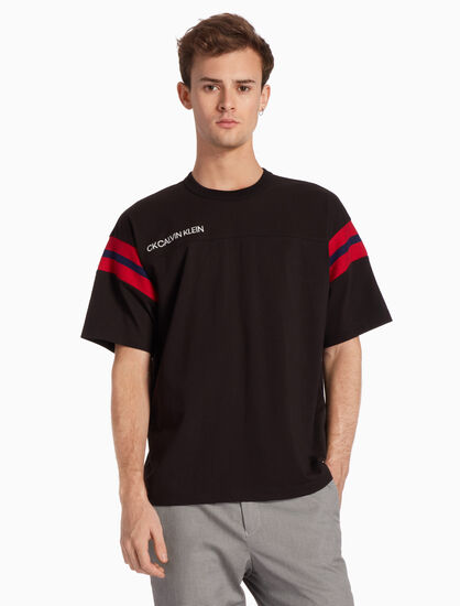CALVIN KLEIN EMBROIDERED LOGO JERSEY TOP