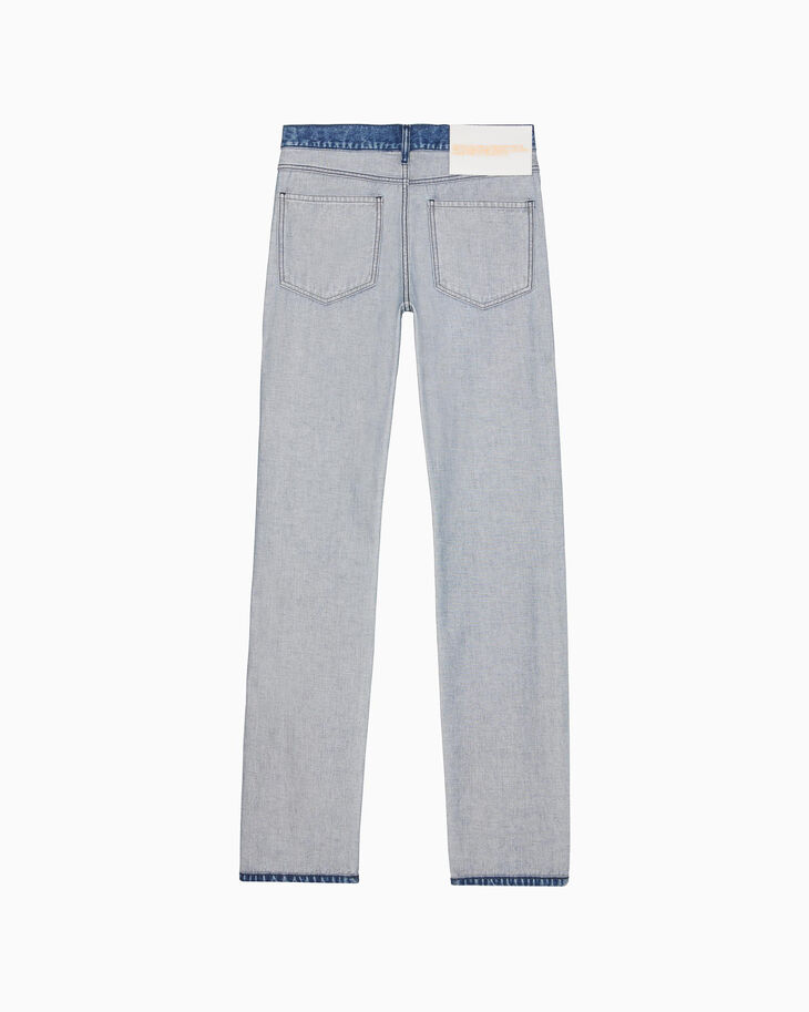 CALVIN KLEIN WOMEN STRAIGHT LEG INSIDE OUT INDIGO STONE JEANS