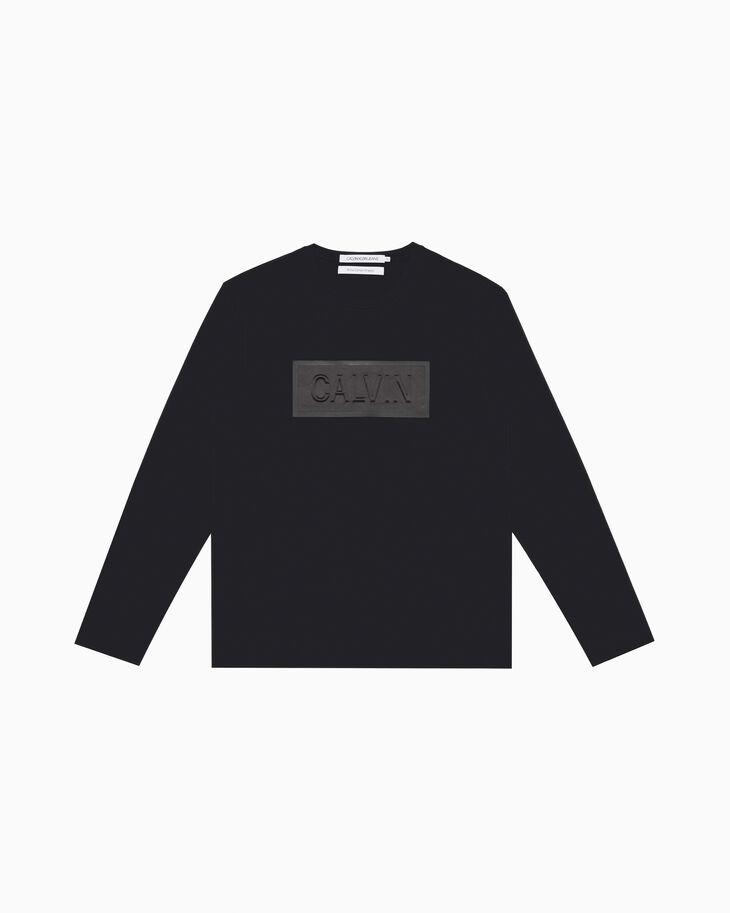 CALVIN KLEIN EMBOSSED LOGO BOX 슬림 티셔츠