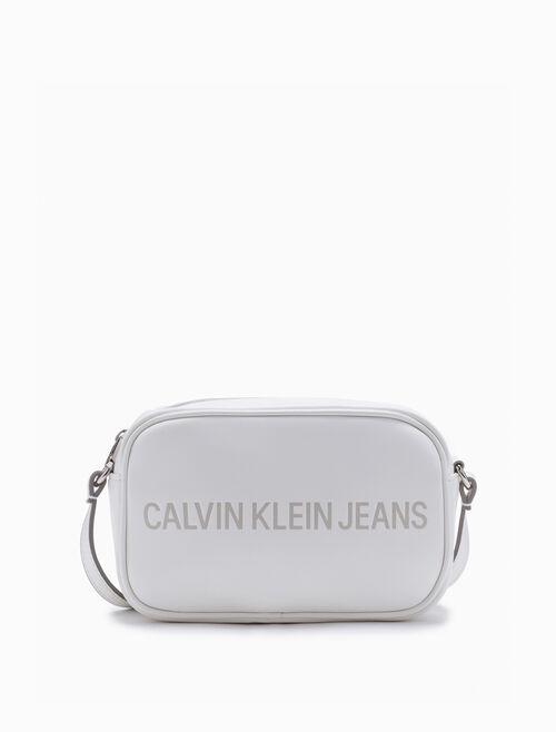 CALVIN KLEIN ロゴ付きスモールカメラバッグ