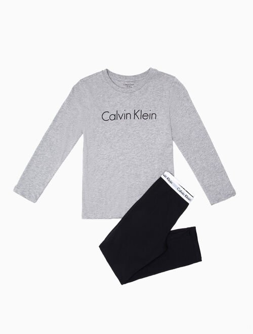 CALVIN KLEIN BOYS LONG SLEEVE KNIT PAJAMA SET