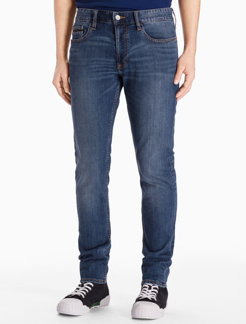 CALVIN KLEIN AIRY MID STRAIGHT TAPERED JEANS