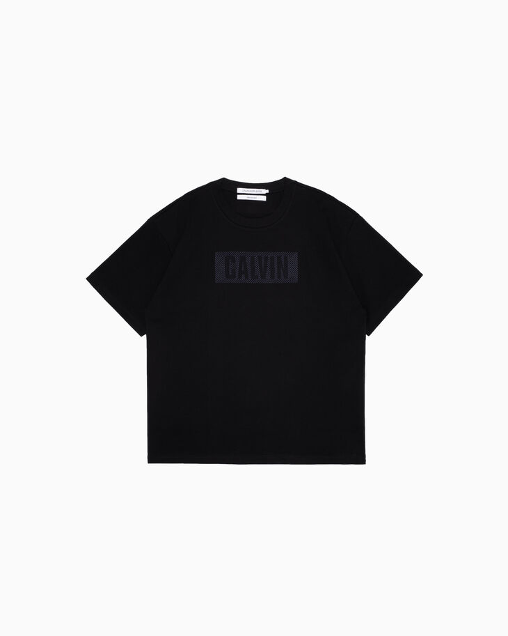 CALVIN KLEIN 新しいVISUAL TEXTURED LOGO Tシャツ