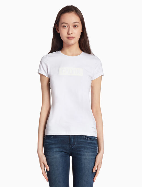 CALVIN KLEIN INSTITUTION LOGO BOX TEE