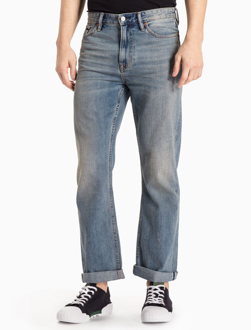 CALVIN KLEIN MANCHESTER BLUE HIGH STRAIGHT JEANS