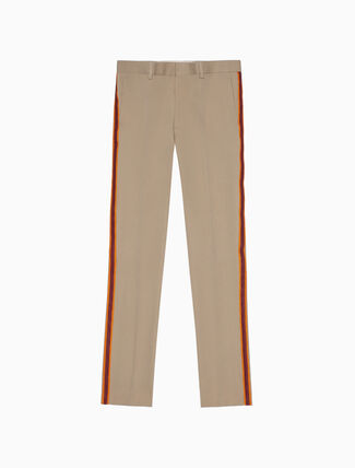 CALVIN KLEIN classic straight leg marching band pant