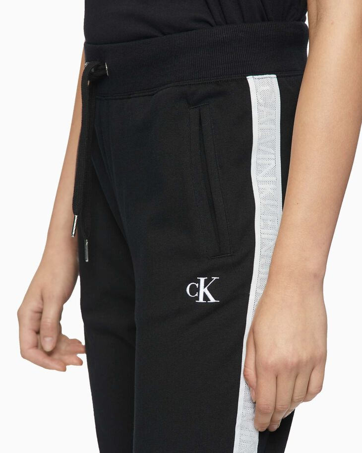 CALVIN KLEIN MESH LOGO TAPE SWEATPANTS