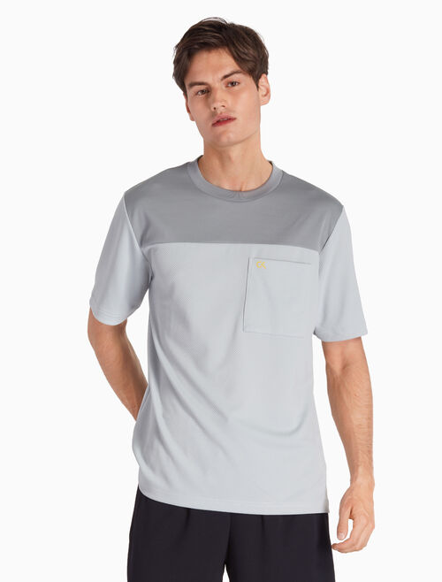 CALVIN KLEIN MESH PANEL SHORT SLEEVE TEE